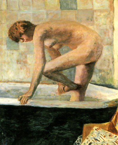 Pierre Bonnard Pink Nude in the Bathtub 1924