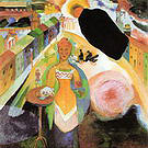 Wassily Kandinsky Dame in Moscow 1912
