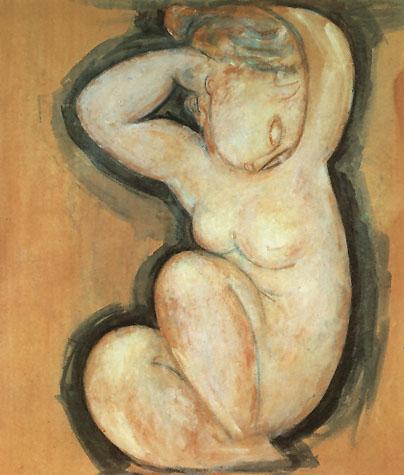 Amedeo Modigliani Caryatid 1913