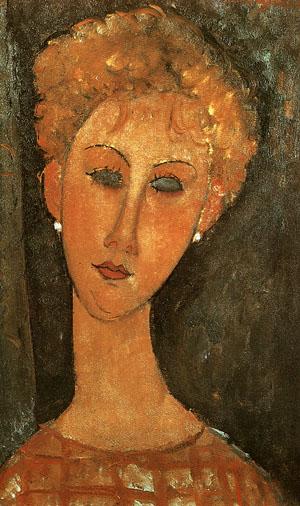 Amedeo Modigliani Woman with Earrings 1917