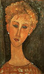 Amedeo Modigliani Woman with Earrings 1917