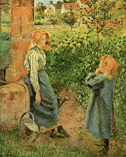 Camille Pissarro Woman and Child at Well 1882