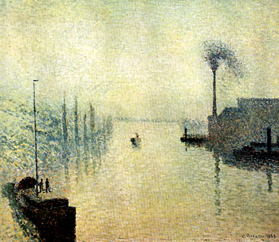 Camille Pissarro River Early Morning 1888
