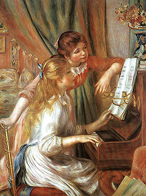 Pierre Auguste Renoir At the Piano 1892