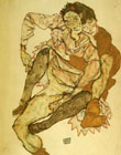 Egon Scheile Embrace (Egon and Edith Schiele) 1915