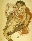 Egon Scheile Embrace (Egon and Edith Schiele) 1915