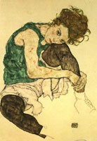 Egon Scheile Seated Woman 1917
