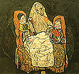 Egon Scheile Mother and Two Children 1917