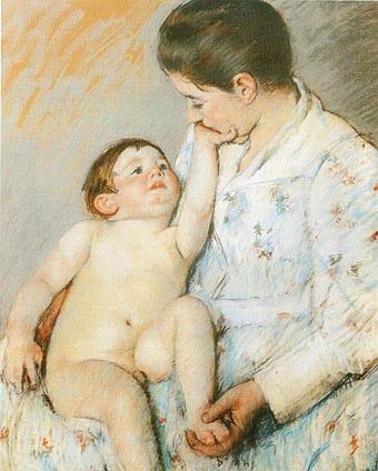 Mary Cassatt Baby's First Caress