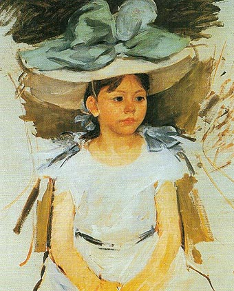 Mary Cassatt Ellen Mary Cassatt in a Big Blue Hat