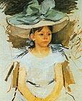 Mary Cassatt Ellen Mary Cassatt in a Big Blue Hat