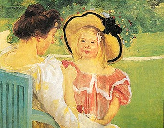 Mary Cassatt In the Garden 1904