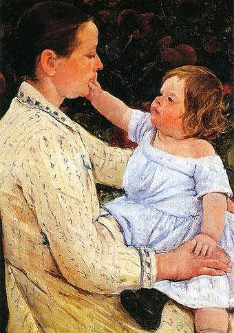 Mary Cassatt The Childs Caress 1890