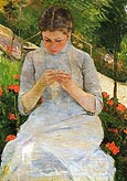 Mary Cassatt Young Woman Sewing 1883