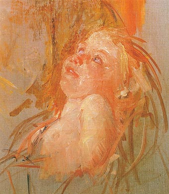 Mary Cassatt Young Child in its Mothers Arms Looking at Her with Intensity 1910