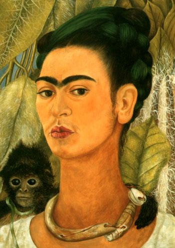 Frida Kahlo Self-Portrait with Monkey 1938