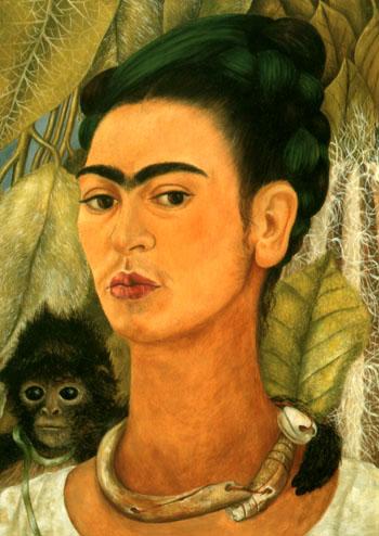 Frida Kahlo Self-Portrait with Monkey 1938