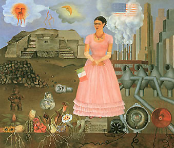 Frida Kahlo Borderline between Mexico and USA