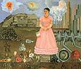 Frida Kahlo Borderline between Mexico and USA
