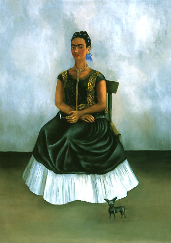 Frida Kahlo Self Portrait with Itzcuinti Dog 1938
