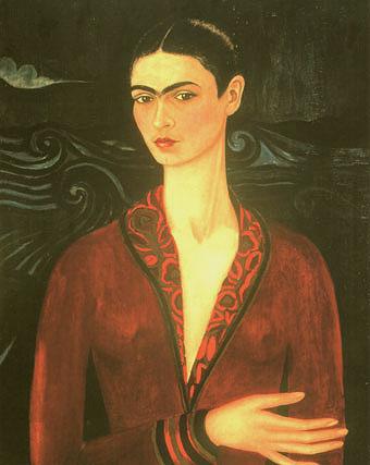 Frida Kahlo Self Portrait in a Velvet Dress 1926