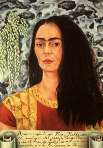 Frida Kahlo Self Portrait with Hair Loose 1947