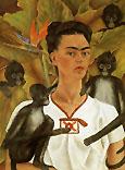 Frida Kahlo Self Portrait with Monkeys 1943