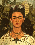 Frida Kahlo Self Portrait with Necklace of Thorns 1940