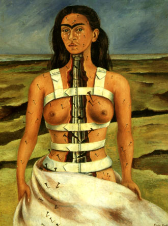 Frida Kahlo The Broken Column 1944