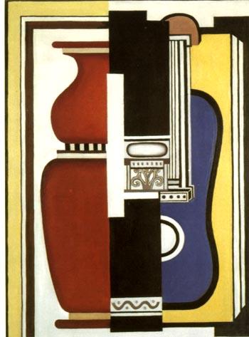 Fernand Leger Blue Guitar and Vase 1926