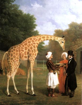 Jean Laurent Agasse The Nubian Giraffe 1827