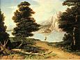 Washington Allston Landscape with a Lake 1804