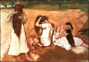 Edgar Degas Three Women Combing their Hair