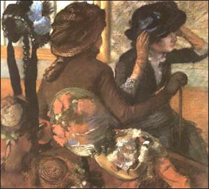 Edgar Degas At the Milliner's  c1882