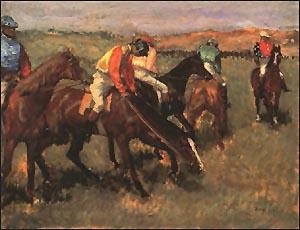 Edgar Degas Before the Race 1882