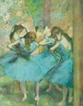 Edgar Degas Blue Dancers
