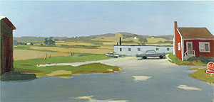 Fairfield Porter Lond Island Landscape with Red Building