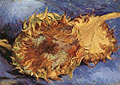 Vincent van Gogh Two Cut Sunflowers September 1887