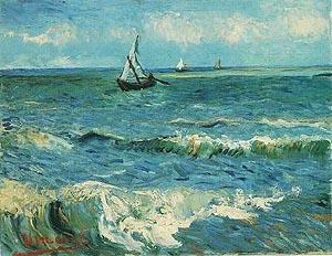 Vincent van Gogh Seascape at Saintes-Maries 1888