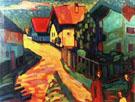 Wassily Kandinsky Street in Murnau with Women