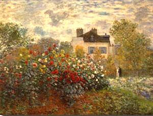Claude Monet Artist's Garden at Argenteuil 1873
