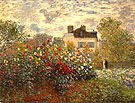 Claude Monet Artist's Garden at Argenteuil 1873