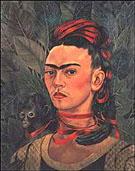 Frida Kahlo Self-Portrait with Monkey 1940