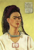 Frida Kahlo Self-Portrait Dedicated to Sigmund Firestone 1940