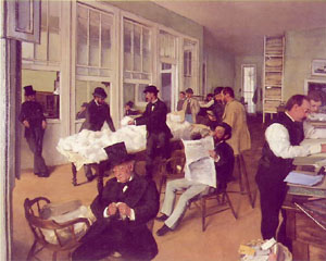 Edgar Degas The Cotton Exchange in New Orleans 1873
