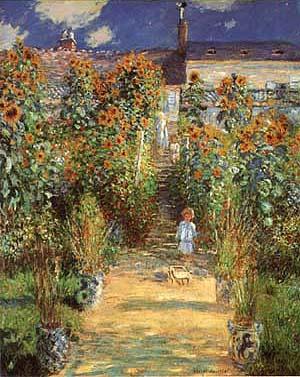 Claude Monet The Artists Garden at Vetheuil