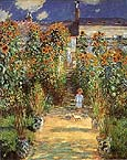 Claude Monet The Artists Garden at Vetheuil
