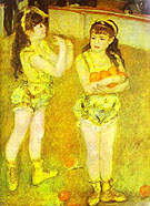 Pierre Auguste Renoir Two Little Circus Girls
