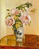 Camille Pissarro Pink Peonies 1873