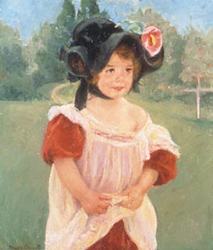 Mary Cassatt Margot Standing in a Garden